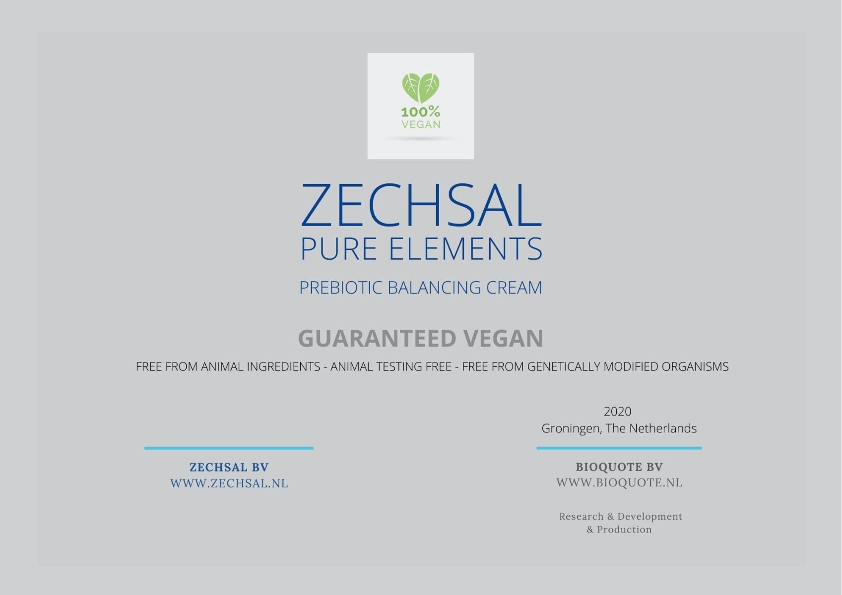 NEW! Zechsal Pure Elements facial cream, 50 ml.